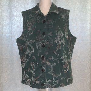 CJ Banks Button Up Vest